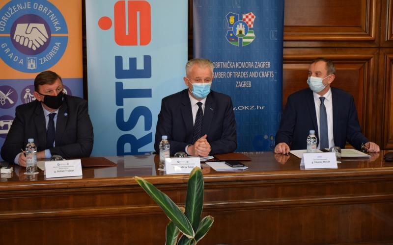 S Erste bankom potpisan je ugovor za povoljnije kredite namijenjene obrtnicima Grada Zagreba i Zagrebačke županije