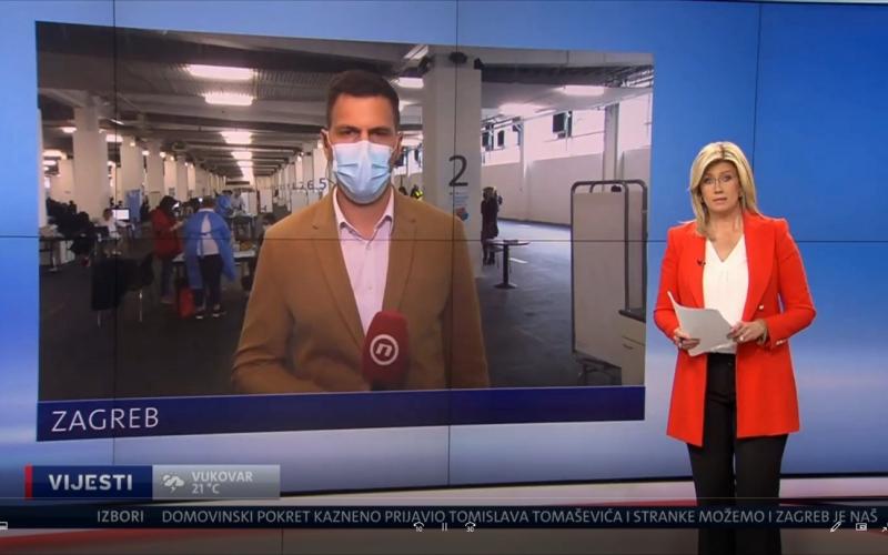 Cijepljenje obrtnika na Dnevniku Nove TV